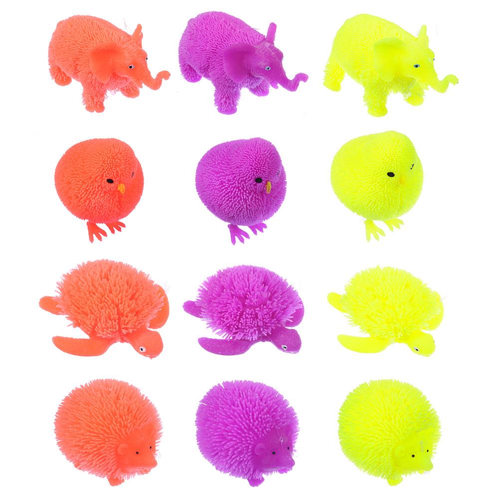 """LASTIKS Игрушка резиновая """"Пушистик"""" в виде животного, свет, 8-11х8-9см, резина, 4-8 дизайнов - 2"""