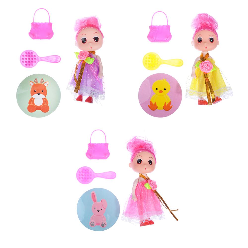 ИГРОЛЕНД Кукла с аксессуарами в чемоданчике, PP,PVC, полиэстер, 14х8,5х5см, 3 дизайна - 2