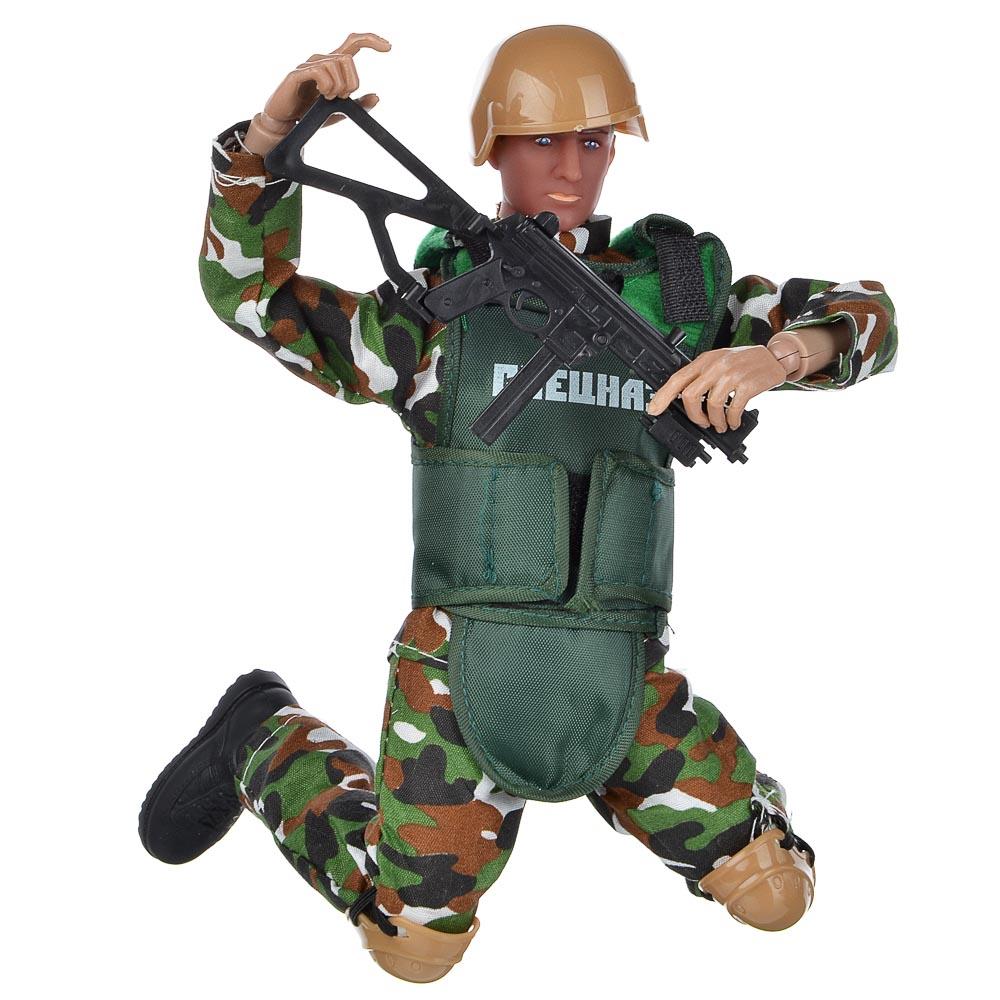 ИГРОЛЕНД Фигурка солдата шарнирная, 30см, с аксессуарами, ABS, 35х21,7х6см, 2 дизайна - 4