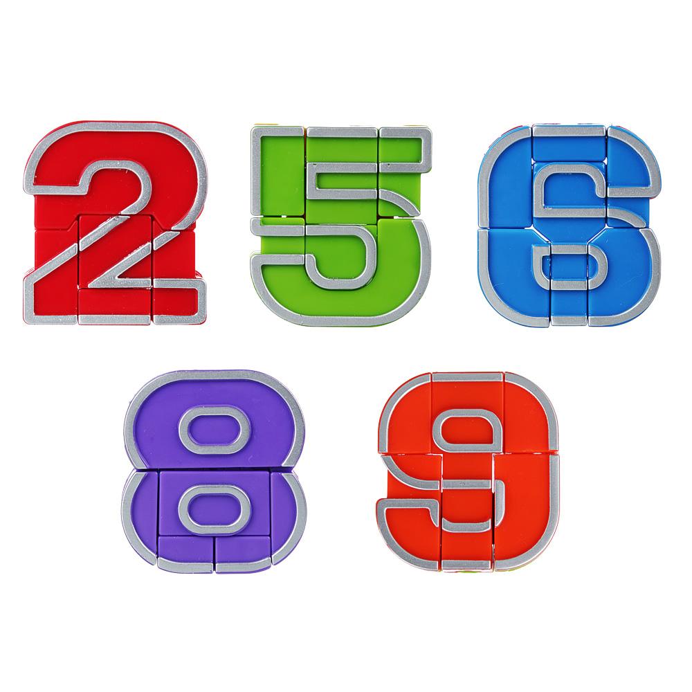"""ИГРОЛЕНД Игрушка, трансформирующаяся в цифру """"ЦИФРОБОТ"""", пластик, 5х5,5х1,7см, 10 дизайнов - 2"""