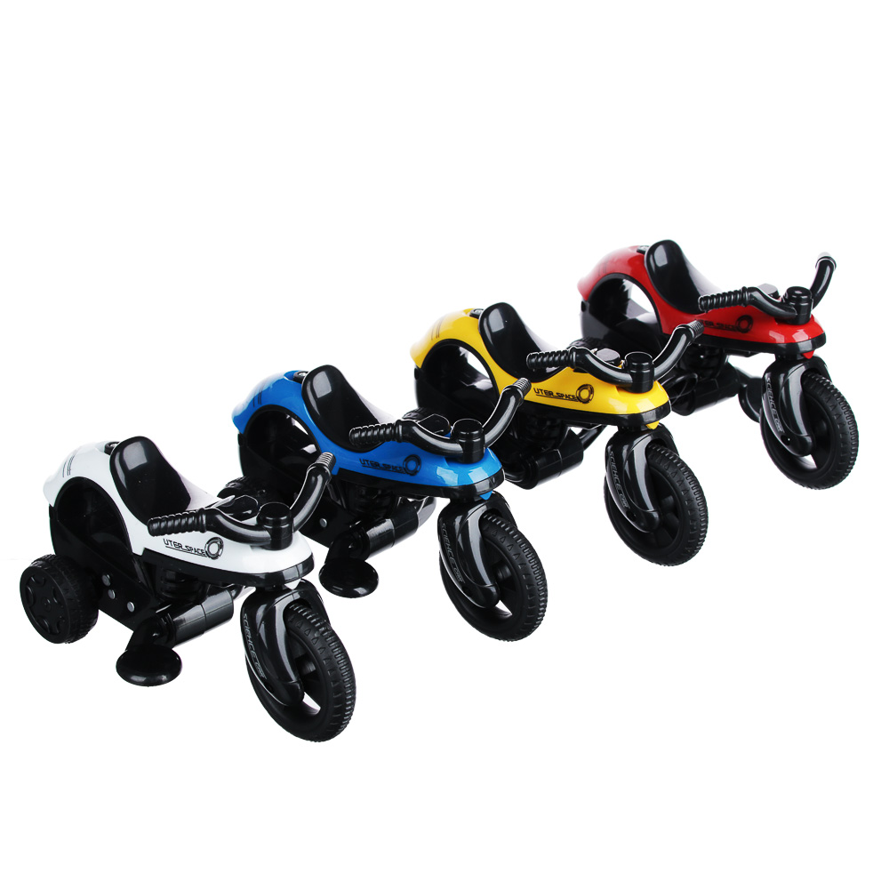 ИГРОЛЕНД Мини-мотоцикл, инерция, свет, звук, пластик, 14х8х6см, 4 дизайна - 2