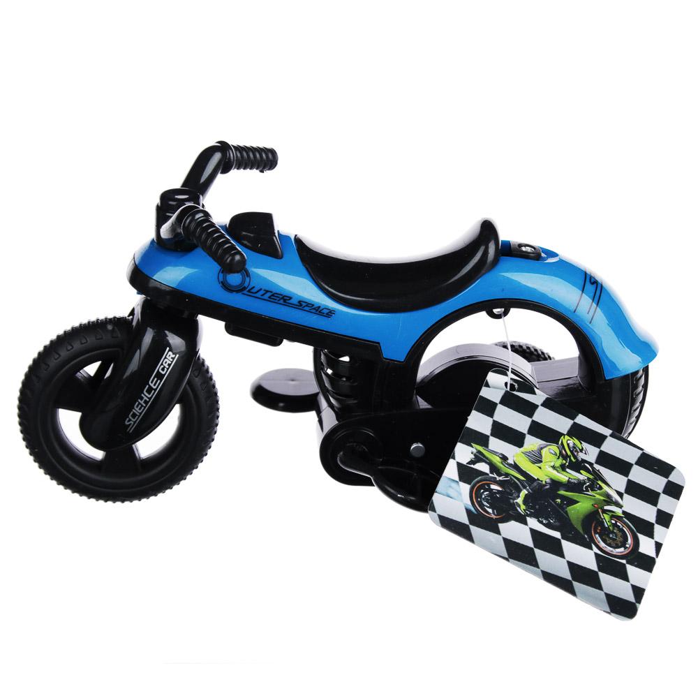 ИГРОЛЕНД Мини-мотоцикл, инерция, свет, звук, пластик, 14х8х6см, 4 дизайна - 3