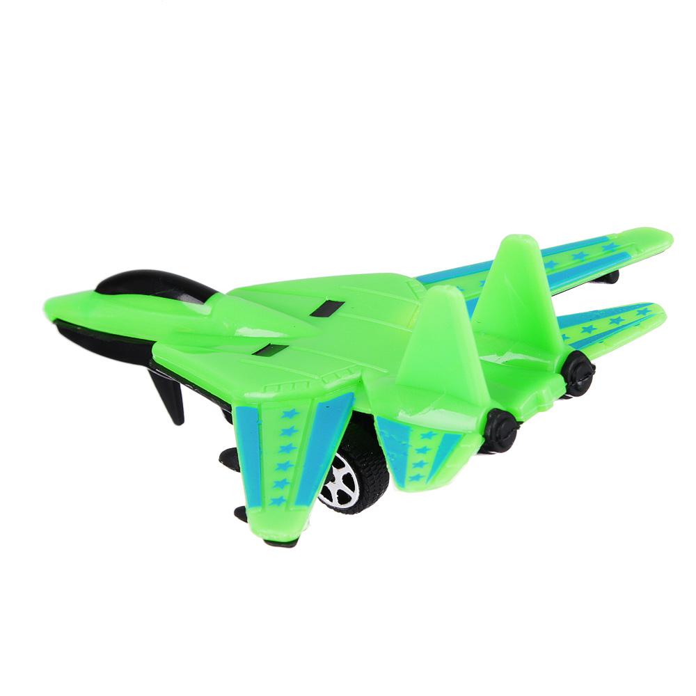 ИГРОЛЕНД Истребитель, pull-back, пластик, 11х9,5х3,5см, пластик, 4 цвета - 3