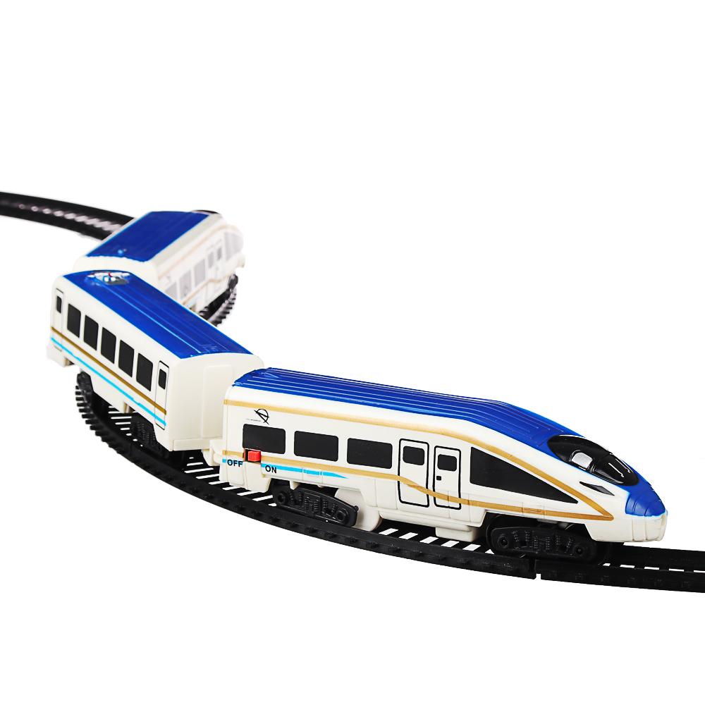 ИГРОЛЕНД Поезд с железнодорожными путями, свет, звук, движ., пластик, 2АА, 55,5-56,5х20-27х4,5-5см - 2