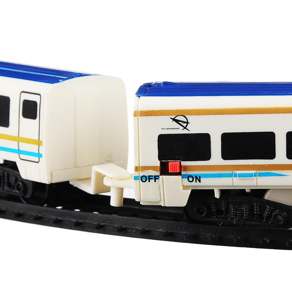 ИГРОЛЕНД Поезд с железнодорожными путями, свет, звук, движ., пластик, 2АА, 55,5-56,5х20-27х4,5-5см - 3