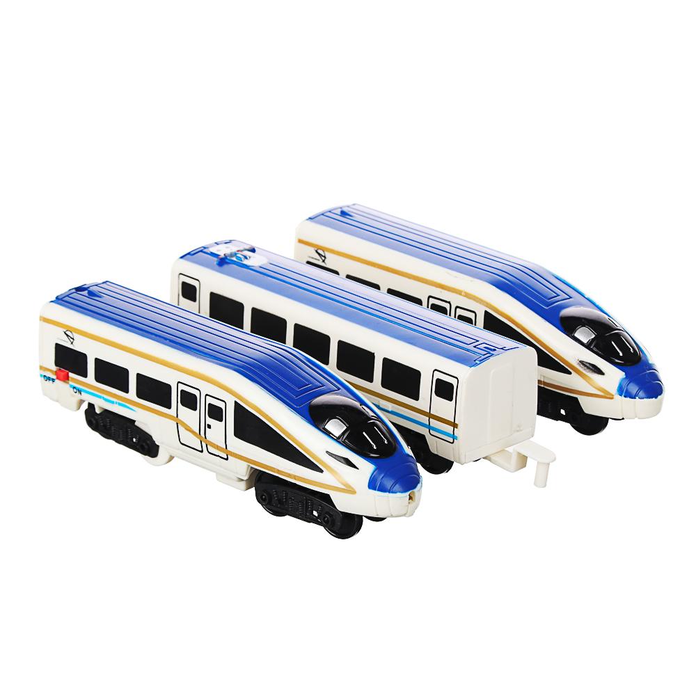 ИГРОЛЕНД Поезд с железнодорожными путями, свет, звук, движ., пластик, 2АА, 55,5-56,5х20-27х4,5-5см - 4