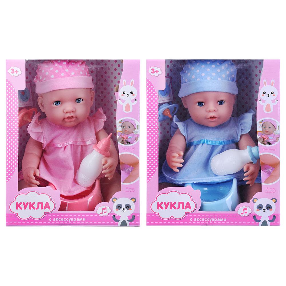 ИГРОЛЕНД Кукла функциональная с аксессуарами,30см,3хAG13, пластик, полиэстер, 25х33х12см, 2 дизайна - 2