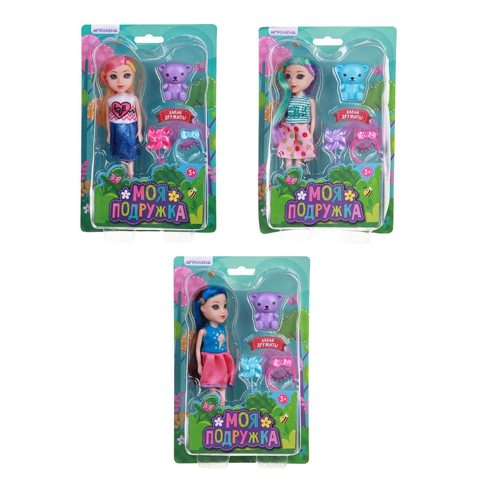 ИГРОЛЕНД Кукла с цветными волосами, 15 см, PP,PVC, полиэстер, 6х17,5х5см, 6 дизайнов - 3