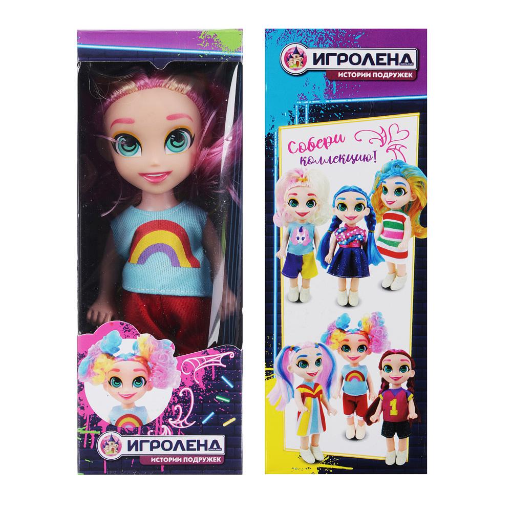 ИГРОЛЕНД Кукла с цветными волосами, 15 см, PP,PVC, полиэстер, 6х17,5х5см, 6 дизайнов - 5