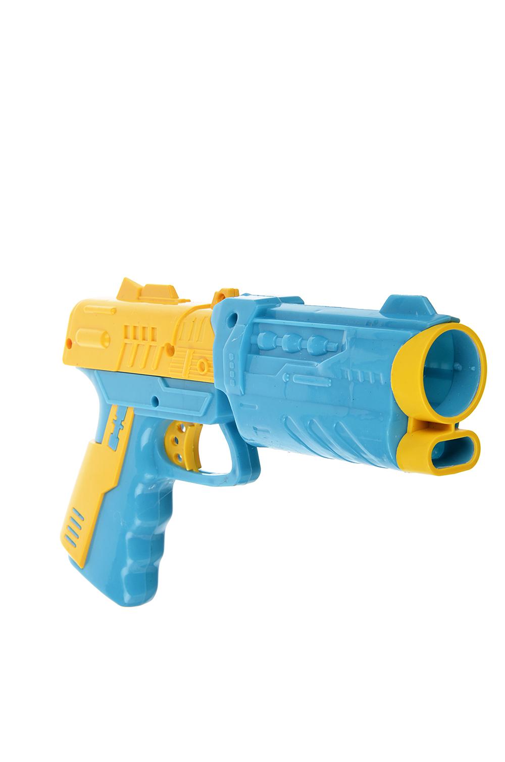 ИГРОЛЕНД Пистолет стреляющий шариками, 4 шарика, PP,PVC, 17х28,5х4см, 3 дизайна - 3