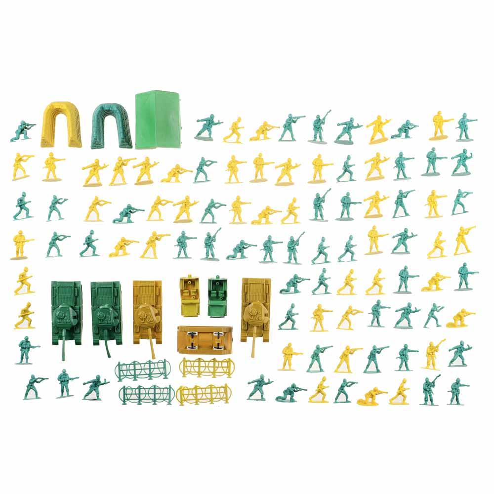 ИГРОЛЕНД Набор солдатиков 100шт., PVC,PP, 26х33х5см, 2 дизайна - 2