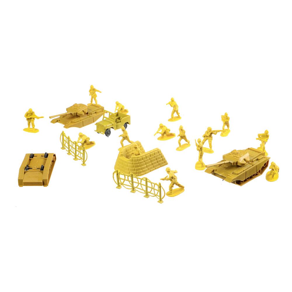 ИГРОЛЕНД Набор солдатиков 100шт., PVC,PP, 26х33х5см, 2 дизайна - 3