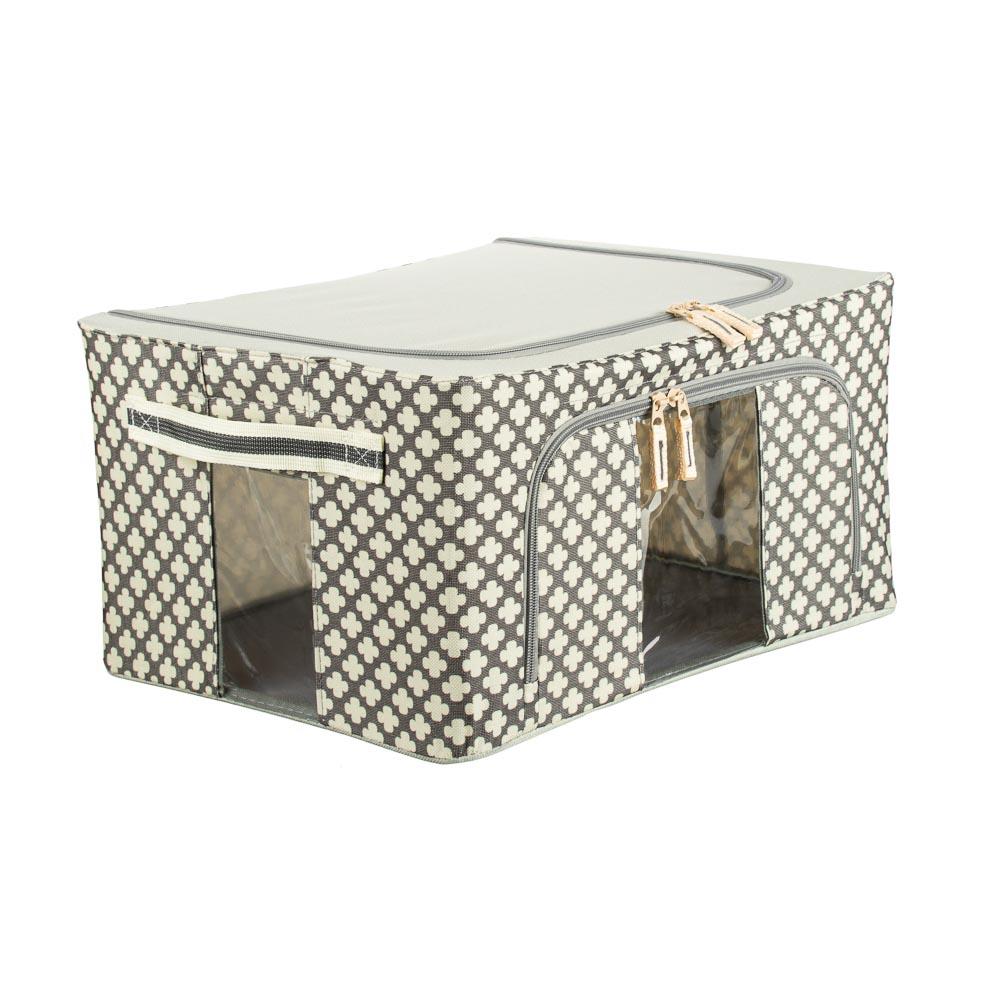 VETTA Короб жесткий для хранения вещей на молнии, 22л, полиэстер, металл, 39х29х20см, 2 дизайна - 2
