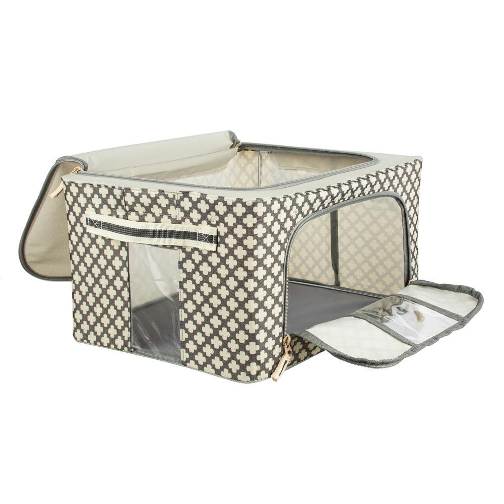 VETTA Короб жесткий для хранения вещей на молнии, 22л, полиэстер, металл, 39х29х20см, 2 дизайна - 3
