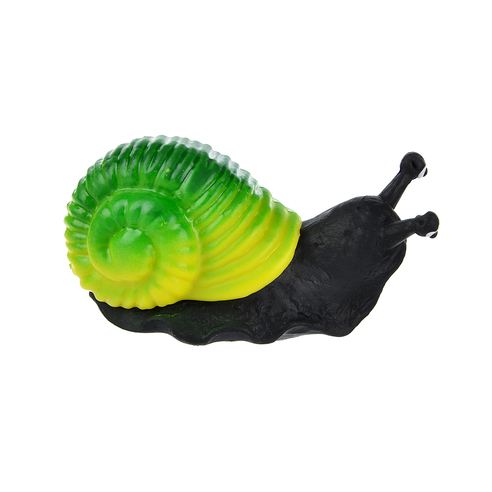 Игрушка в виде улитки с панцирем, пластик, резина, 6-8см, 2-4 цвета - 3