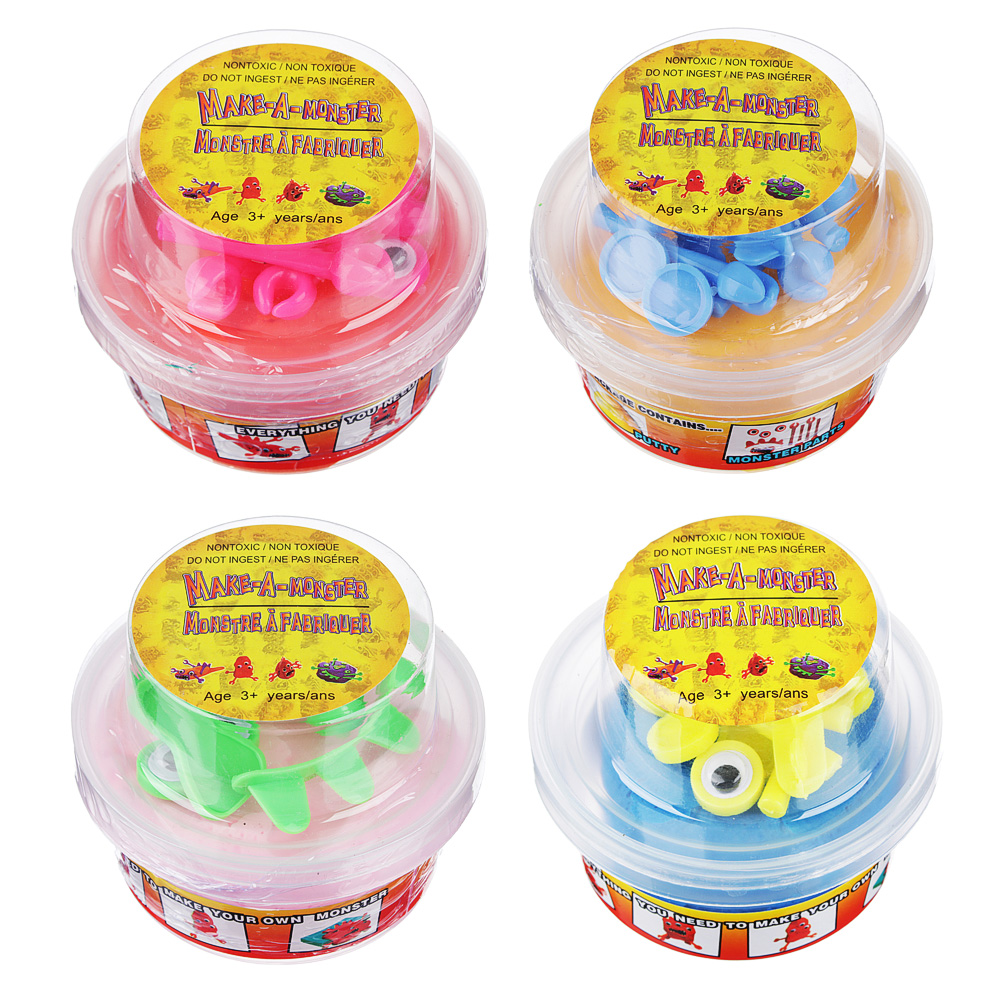 LASTIKS МонстроЛизун, в комплекте: глазки, ручки, зубы, 55-65гр, полимер, пласт, 8,5х6,5см, 4 цвета - 2