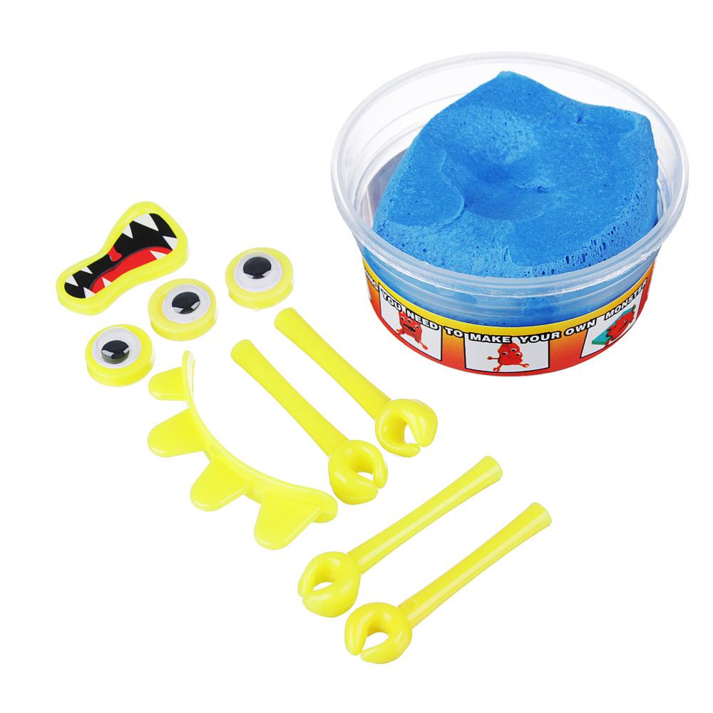LASTIKS МонстроЛизун, в комплекте: глазки, ручки, зубы, 55-65гр, полимер, пласт, 8,5х6,5см, 4 цвета - 3