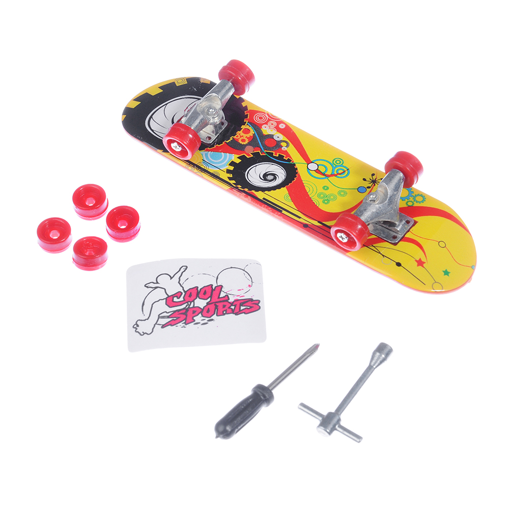 ИГРОЛЕНД скейтборд миниатюрный со сменными колесами,10 дизайнов,PS,металл,19х14,7х3см - 3