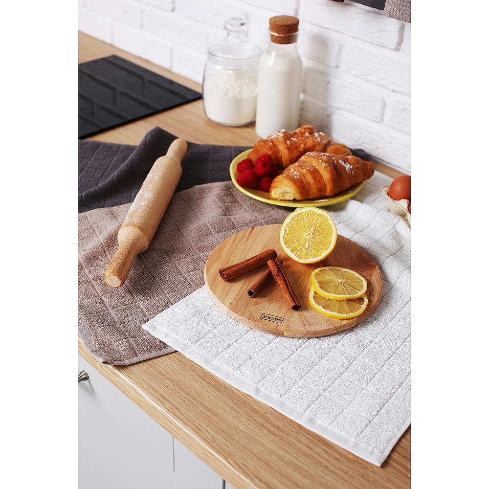 "Кухонное полотенце махровое PROVANCE, 100% хлопок, 30х50см, 380гр/м, ""Гармония"", 3 цвета - 6"