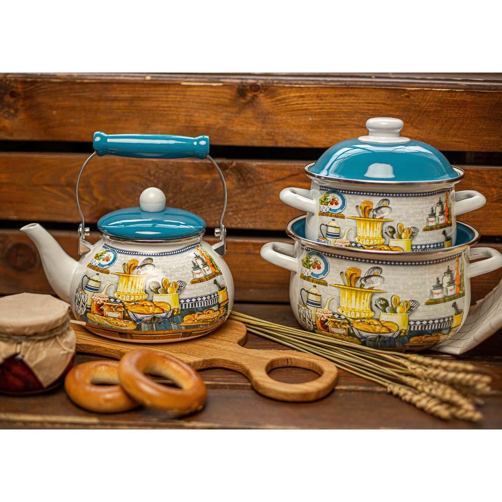 Чайник 2,5 л VETTA Хлеб, эмалированный, индукция - 3