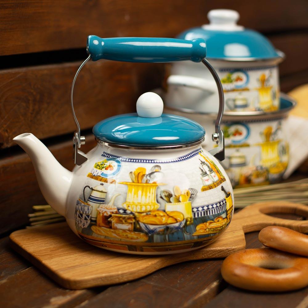 Чайник 2,5 л VETTA Хлеб, эмалированный, индукция - 5