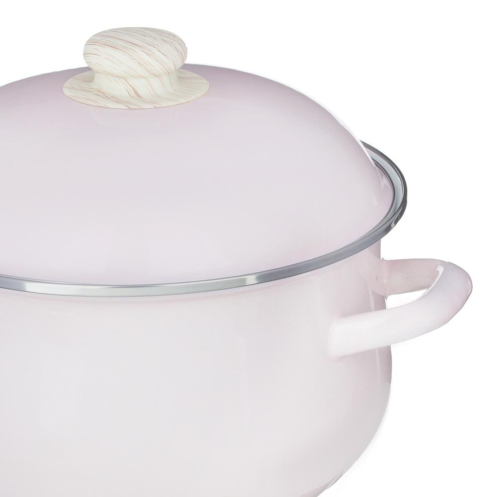 Кастрюля 3,6 л VETTA Глянец, эмалированная, розовый - 2