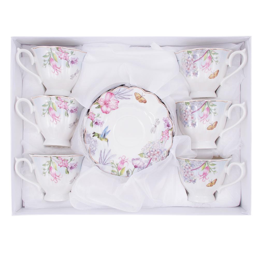Чайный сервиз 12 предметов MILLIMI Арлетт 220мл, костяной фарфор - 3