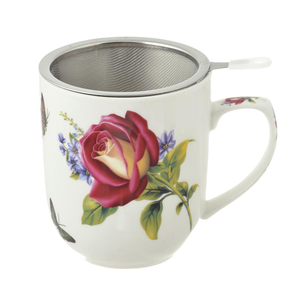 Чайный сервиз MILLIMI Коппелия (кружка, ситечко, ложка, крышка), костяной фарфор - 2