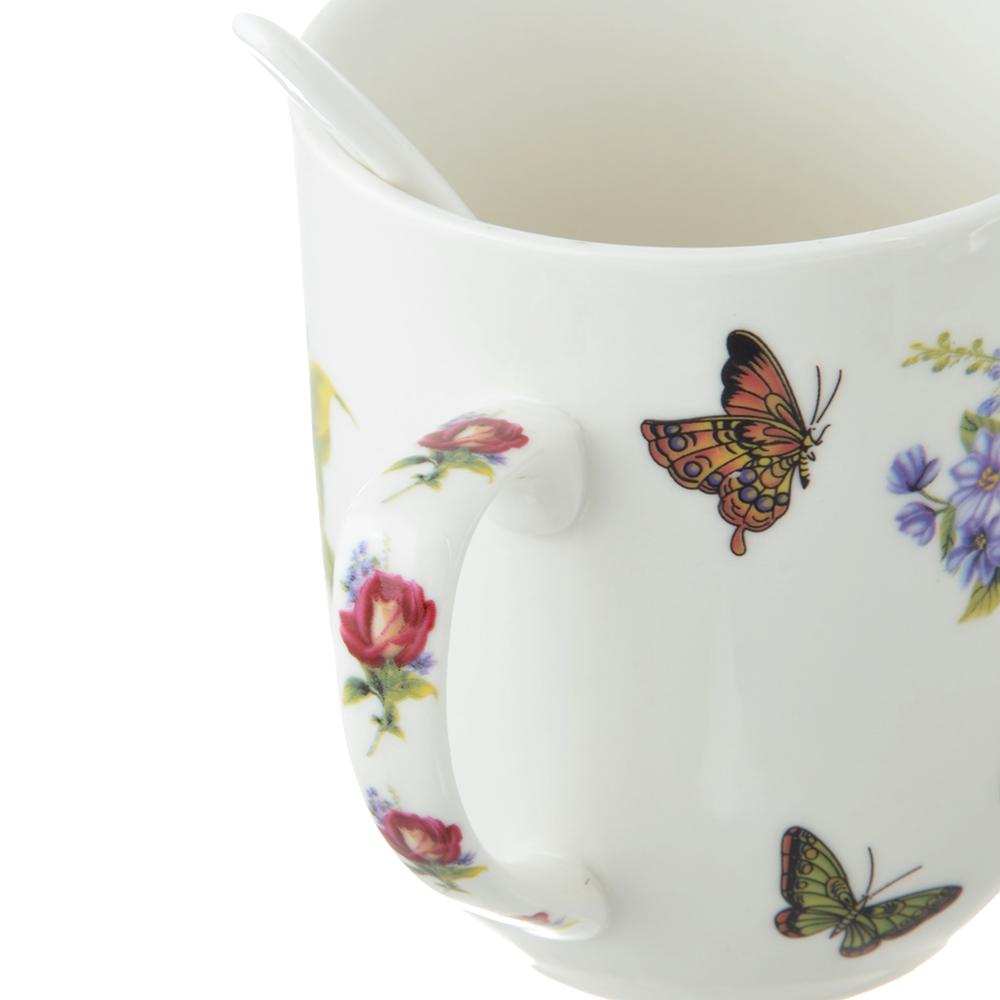 Чайный сервиз MILLIMI Коппелия (кружка, ситечко, ложка, крышка), костяной фарфор - 3