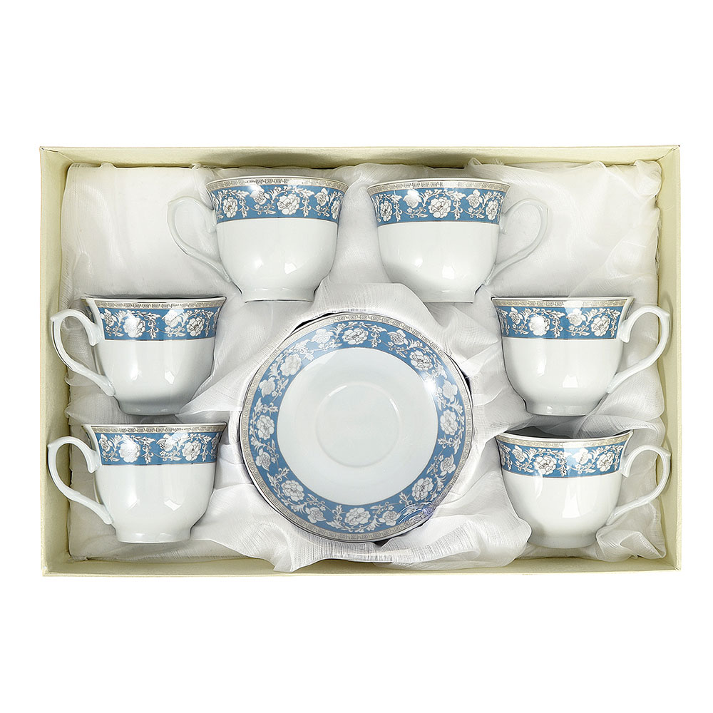 Чайный сервиз 12 предметов Савойя 220мл, фарфор - 3