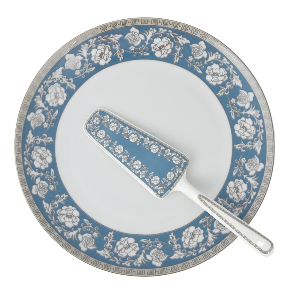 Набор для торта 2 предмета Савойя (блюдо, лопатка), фарфор - 2