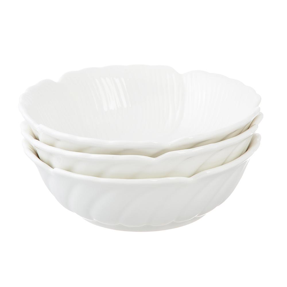 Набор блюд 3 предмета MILLIMI Цветок 15,5х4,5см, костяной фарфор - 3