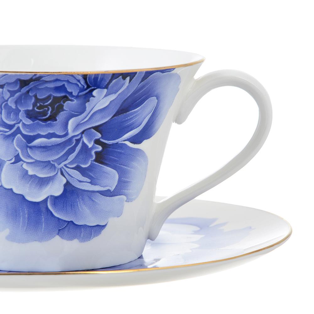 Чайный сервиз 12 предметов MILLIMI Виолета 270мл, костяной фарфор - 2