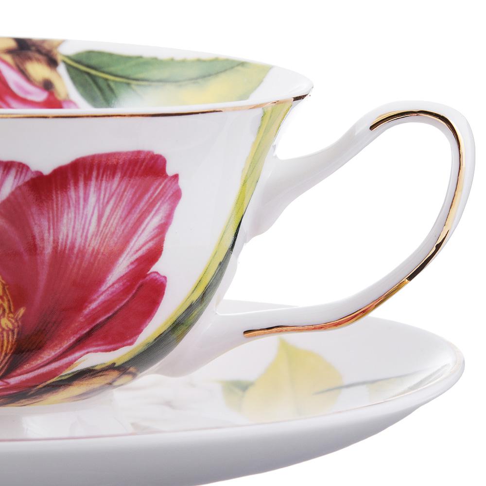 Чайный сервиз 12 предметов MILLIMI Вдохновение 220мл, костяной фарфор - 2