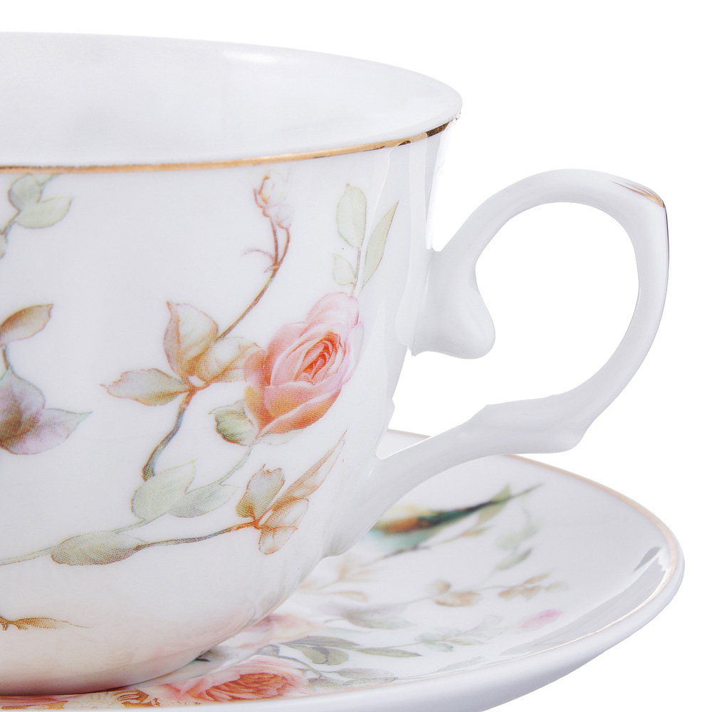 Чайный сервиз 4 предмета MILLIMI Ангела 250мл, тонкий фарфор - 2