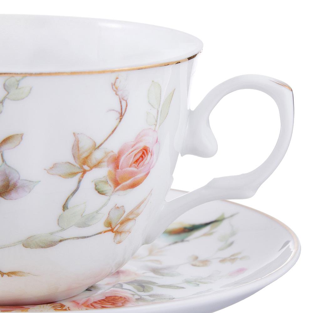Чайный сервиз 12 предметов MILLIMI Ангела 250мл, тонкий фарфор - 2