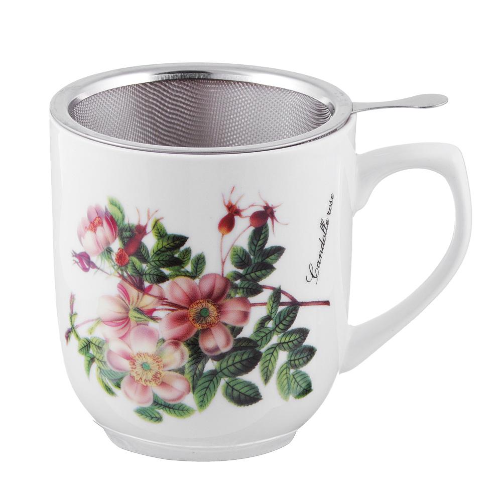 Чайный сервиз MILLIMI Ивона (кружка, ситечко, ложка, крышка), костяной фарфор - 2