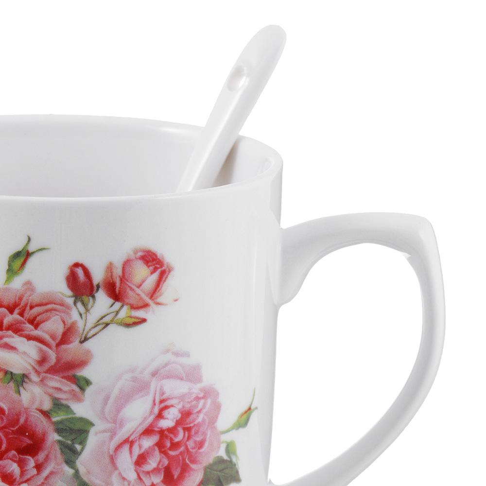 Чайный сервиз MILLIMI Романс (кружка, ситечко, ложка, крышка), костяной фарфор - 3