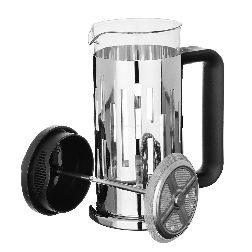 SATOSHI Рейн Френч-пресс 350мл, жаропрочное стекло, нерж.сталь - 4