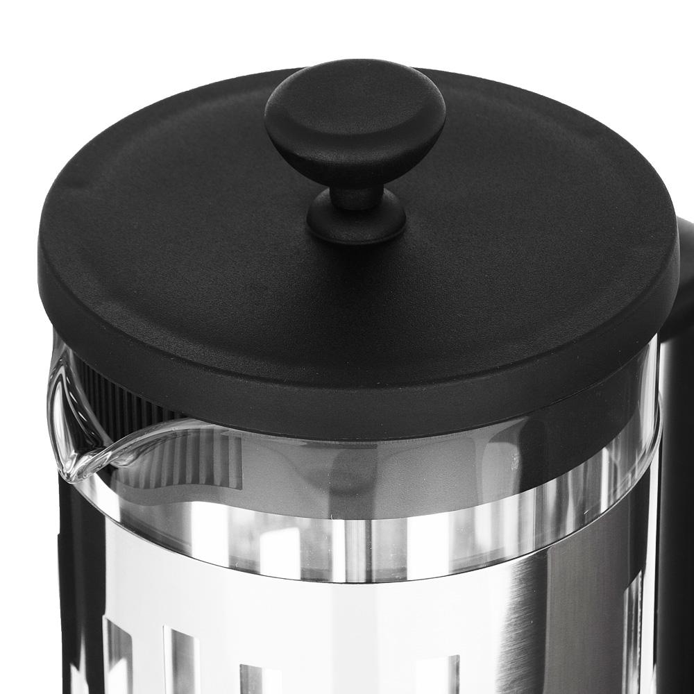 SATOSHI Рейн Френч-пресс 600мл, жаропрочное стекло, нерж.сталь - 3