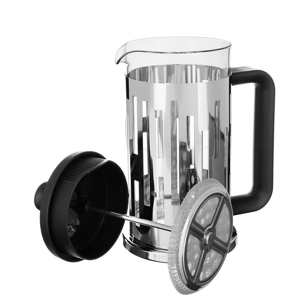 SATOSHI Рейн Френч-пресс 600мл, жаропрочное стекло, нерж.сталь - 4