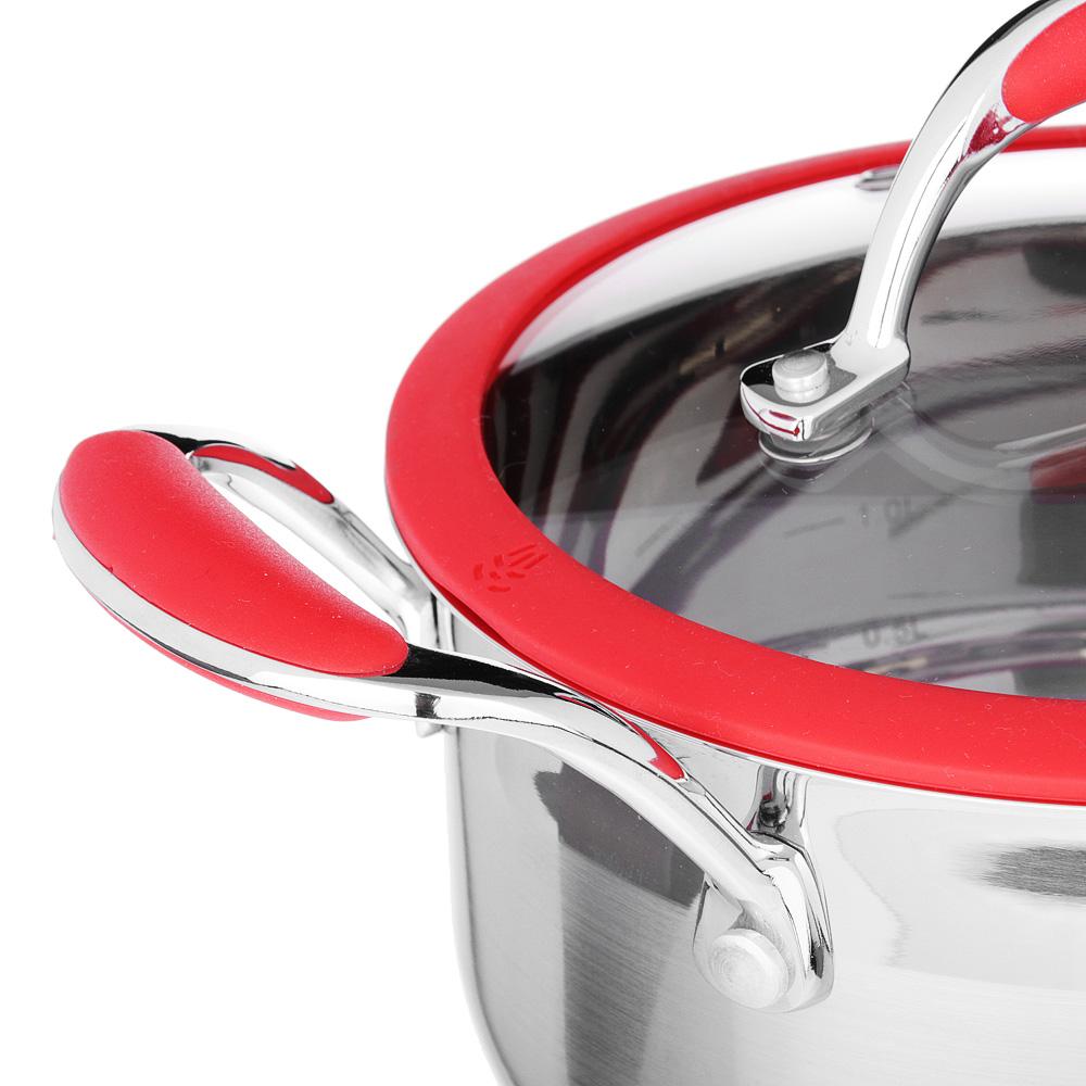 SATOSHI Венрай Кастрюля 18х10см 2,3л, со стекл. крышкой, индукция, нерж. сталь - 2