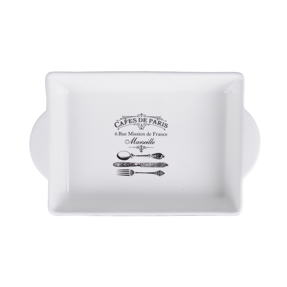 MILLIMI Кафе де Пари Форма д/запекания и салатов прямоуг. с ручк., 1500мл, 32х19,5х5см, керамика - 2