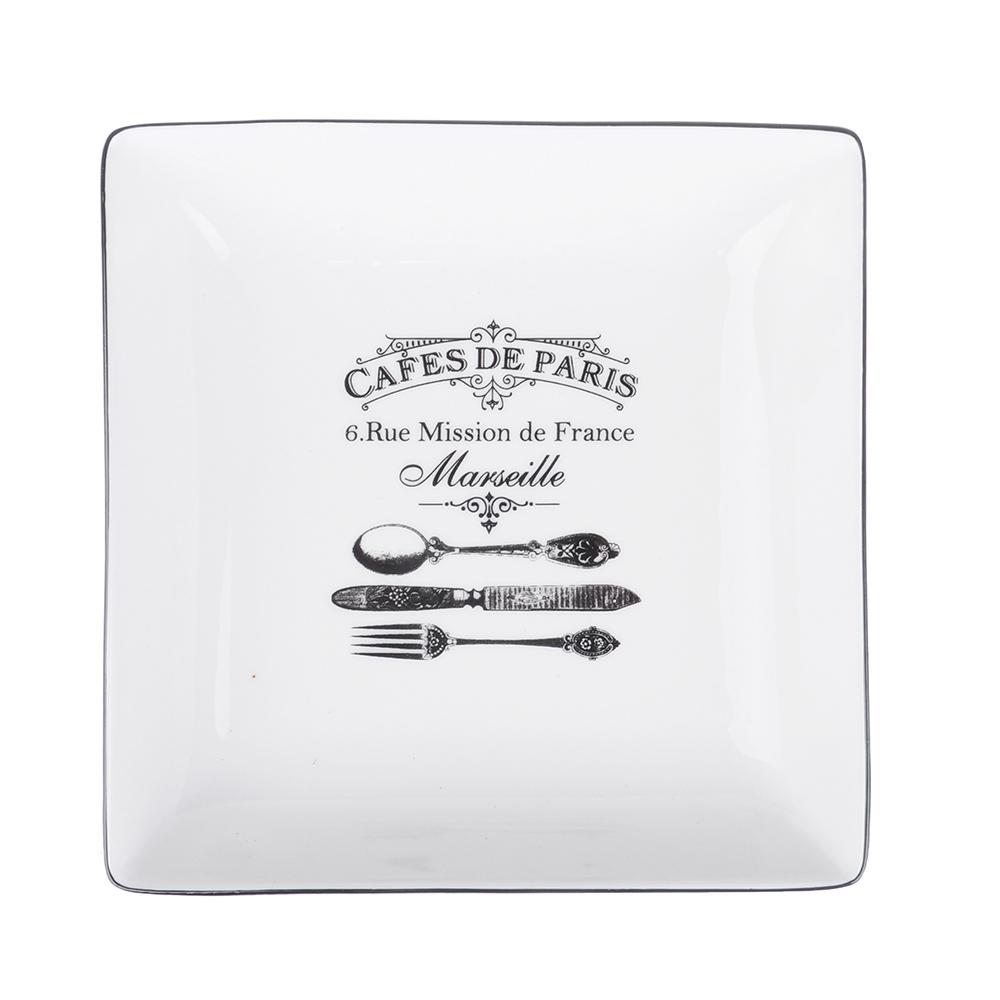 MILLIMI Кафе де Пари Блюдо квадратное, 18х18х4,5см, керамика - 2