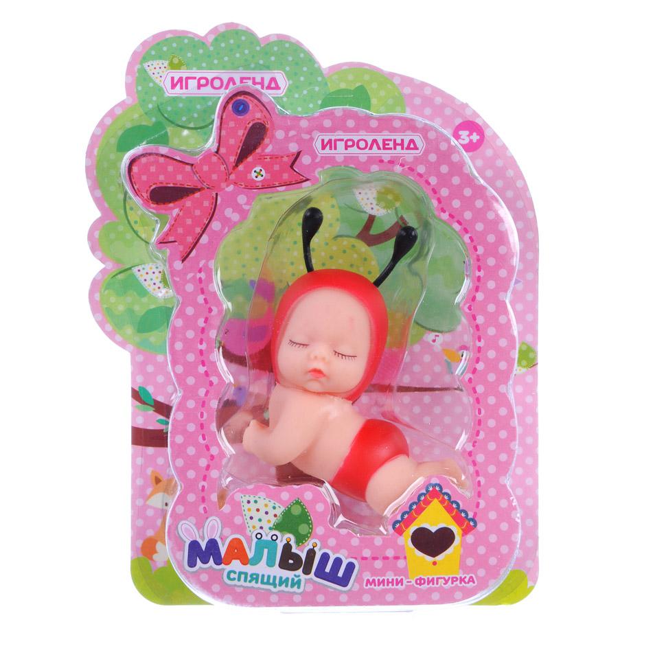 ИГРОЛЕНД Мини фигурки спящих малышей, ПВХ, 5х10х3,5см, 6 дизайнов - 3