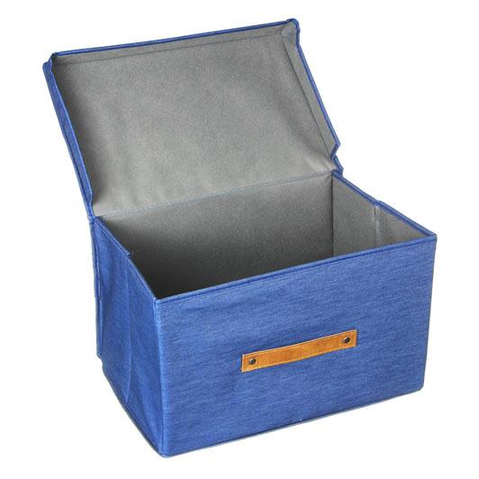 VETTA Кофр для хранения с крышкой, 38х25х25см, 80% хлопок, 20% ПЭ, 2 дизайна - 3