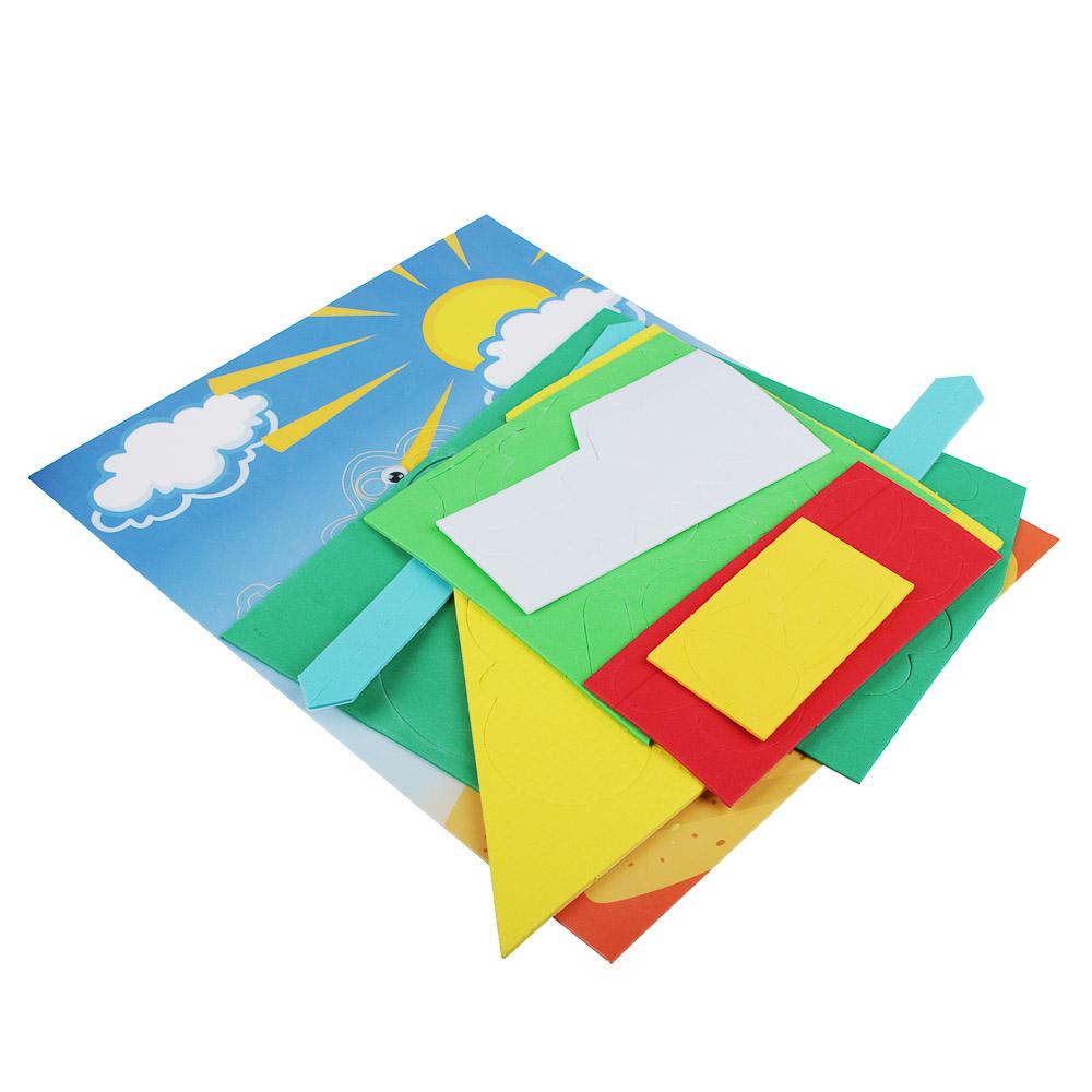 ХОББИХИТ Аппликация развивающая тактильная, ЭВА, картон, 24х29см, 4-5 дизайнов - 3