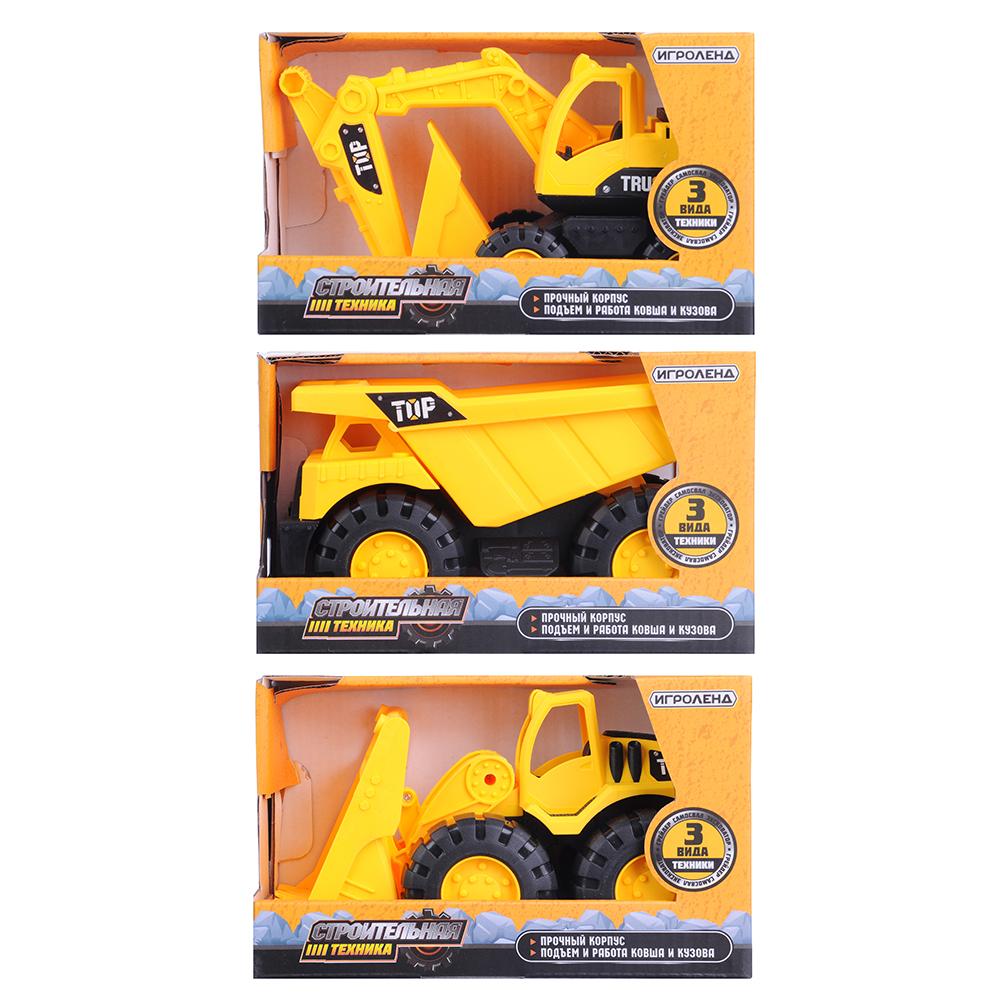 ИГРОЛЕНД Машина в виде строительной техники, ABS, 10х10х19см, 3 дизайна - 4