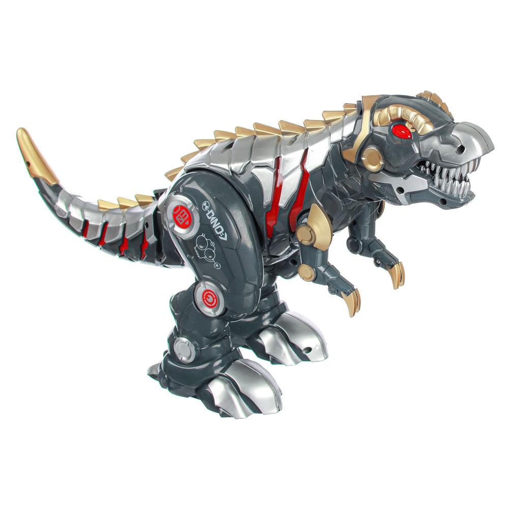 ИГРОЛЕНД Робот-динозавр на пульте упр., ИК, свет, звук, движ., 5ААА, ABS, 33х17х30см - 4