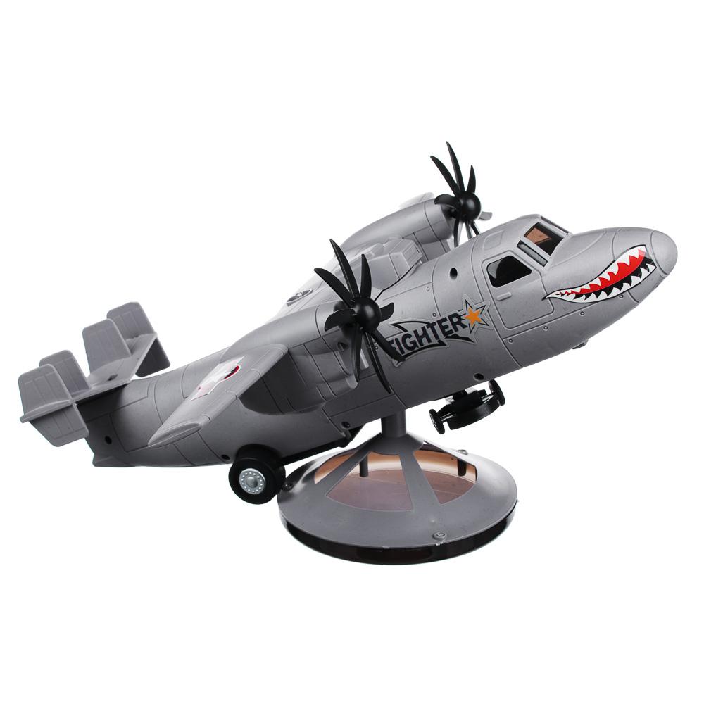 """ИГРОЛЕНД Самолет """"Неудержимый"""", свет, звук, движение, датчики препятствий, 3АА, пластик, 35х13х14см - 2"""